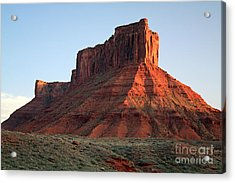 Acrylic Print featuring the photograph Moab At Sundown by Edward R Wisell