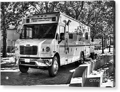 Mobile Command Center Bw Acrylic Print