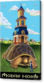 Mobile Home With Caption Acrylic Print by J L Meadows