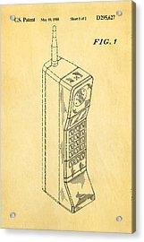 Mobile Phone Patent Art 1988 Acrylic Print