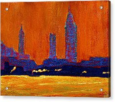 Mobile Skyline August Morning Light Acrylic Print by Vernon Reinike