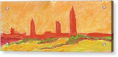 Mobile Skyline Early Summer Morning Acrylic Print by Vernon Reinike