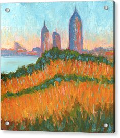 Mobile Skyline From Felixs Acrylic Print by Vernon Reinike