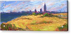 Mobile Skyline From Felixs Windy Day Acrylic Print by Vernon Reinike