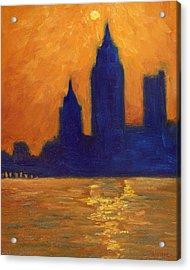 Mobile Skyline Late Evening Acrylic Print