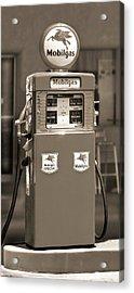 Mobilgas - Wayne Double Gas Pump 2 Acrylic Print by Mike McGlothlen