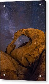 Mobius Arch And Milky Way Acrylic Print by Cat Connor