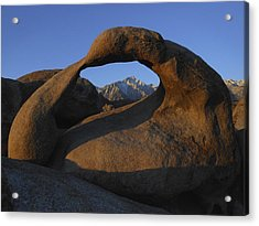 Mobius Arch And Snow Capped Peak Acrylic Print