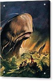 Moby Dick Acrylic Print by James Edwin McConnell