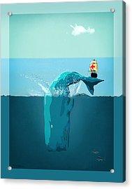 Moby Dick Acrylic Print by Mark Ashkenazi