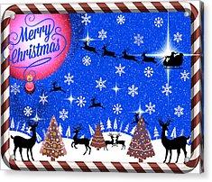 Mod Cards - Reindeer Games - Merry Christmas IIi Acrylic Print