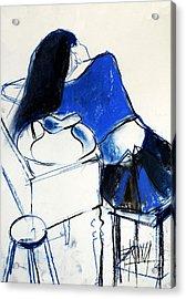Model #4 - Figure Series Acrylic Print by Mona Edulesco