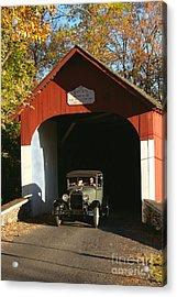 Model A Ford At Knecht's Bridge Acrylic Print
