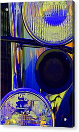 Model A Headlights Acrylic Print by Terry Thomas