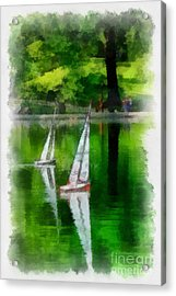 Model Boat Basin Central Park Acrylic Print by Amy Cicconi