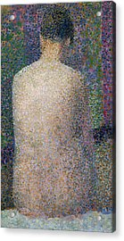 Model From The Back Acrylic Print by Georges Pierre Seurat