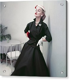 Model In A Black Suit Acrylic Print