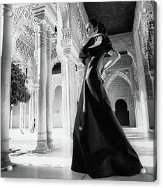 Model In The Court Of Lions Inside The Alhambra Acrylic Print