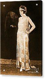Model Norma Talmadge 1920 Acrylic Print by Padre Art