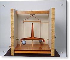 Model Of A Gravitational Experiment Acrylic Print by Dorling Kindersley/uig