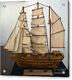 Model Sailing Ship Acrylic Print