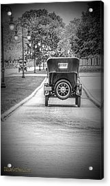 Model T Ford Down The Road Acrylic Print