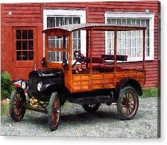 Model T Station Wagon Acrylic Print by Susan Savad