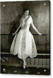 Model Wearing Dress By Lanvin Acrylic Print