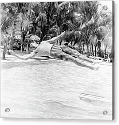 Model Wearing Robert Bruce Trunks Acrylic Print by Richard Waite