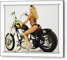 Models And Motorcycles_k Acrylic Print