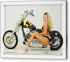 Models And Motorcycles_l Acrylic Print