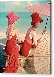 Models At A Beach Acrylic Print by Louise Dahl-Wolfe
