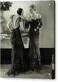 Models In Evening Gowns Acrylic Print