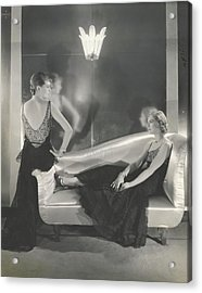 Models Wearing Chanel Acrylic Print