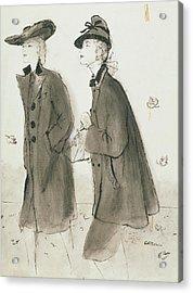 Models Wearing Coats And Hats Acrylic Print