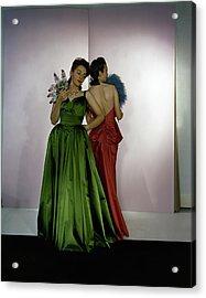 Models Wearing Nettie Rosenstein Dresses Acrylic Print