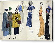 Models Wearing Schiaparelli Acrylic Print