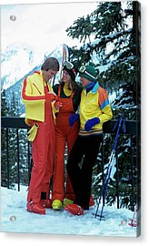 Models Wearing Ski Clothes Acrylic Print