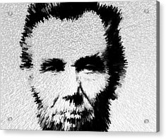 Modern Abe - Abraham Lincoln Art By Sharon Cummings Acrylic Print by Sharon Cummings