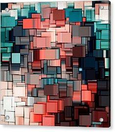 Modern Abstract Ix Acrylic Print by Lourry Legarde