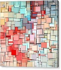 Modern Abstract X Acrylic Print by Lourry Legarde