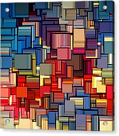 Modern Abstract Xii Acrylic Print by Lourry Legarde