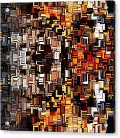 Modern Abstract Xxvii Acrylic Print by Lourry Legarde