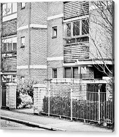 Modern Apartments Acrylic Print by Tom Gowanlock