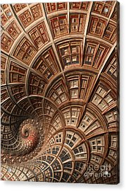 Modern Architecture  Acrylic Print by Heidi Smith