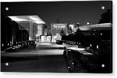 Modern Architecture Night Black White Acrylic Print