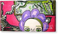 Modern Art Evolution Acrylic Print by Lois Picasso
