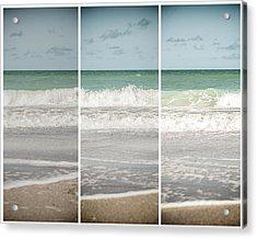 Modern Beach Tryptych Acrylic Print by Lisa Russo