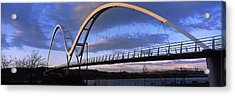 Modern Bridge Over A River, Infinity Acrylic Print by Panoramic Images