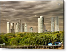 Modern Buenos Aires Tilt Shift Acrylic Print by For Ninety One Days